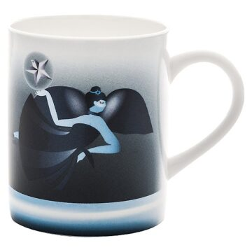 mug blue christmas alessi