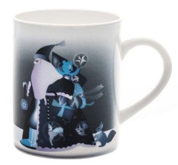 mug blue christmas alessi