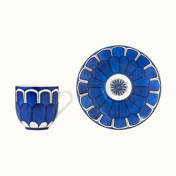 Bleus d'Ailleurs - Tazza caffè con piattino hermes
